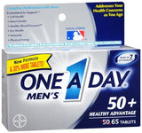 One-A-Day Men's 50+ Healthy Advantage Tablets - 65 tabs