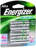 Energizer Recharge Rechargeable Batteries AA - 4 ea