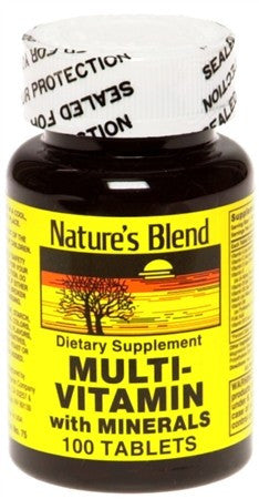 Nature's Blend Multi-Vitamin With Minerals Tablets - 100 tabs