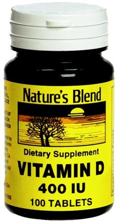 Nature's Blend Vitamin D 400 IU Tablets - 100 tabs