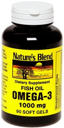 Nature's Blend Omega-3 1000 mg Softgels - 90 caps