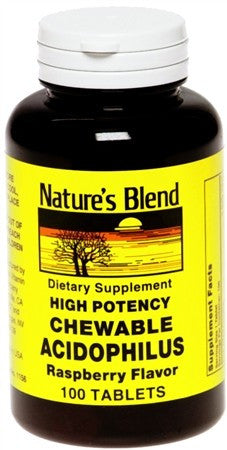 Nature's Blend Acidophilus Chewable Tablets Raspberry Flavor - 100 tabs