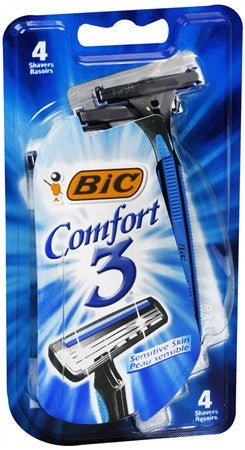 Bic Comfort 3 Shavers Sensitive Skin - 4 ea
