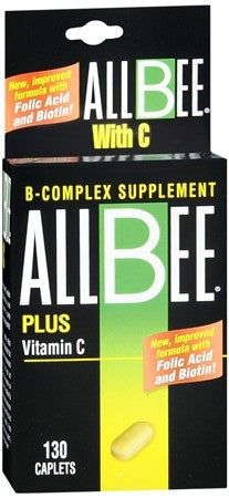 Allbee Plus Vitamin C Caplets - 130 caps