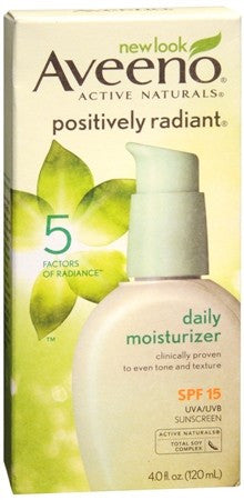 AVEENO Active Naturals Positively Radiant Daily Moisturizer SPF 15 - 4 oz