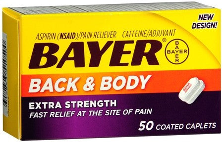 Bayer Back & Body Coated Caplets - 50 caps