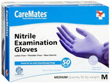 CareMates Powder Free Nitrile Examination Gloves Medium - 50 ea