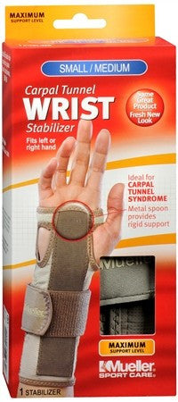 Mueller Sport Care Carpal Tunnel Wrist Stabilizer Small/Medium 62011 - 1 ea