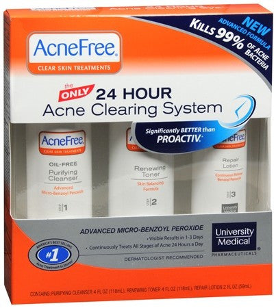 AcneFree 24 Hour Acne Clearing System - 1 ea