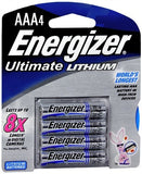 Energizer Ultimate Lithium Batteries AAA - 4 ea