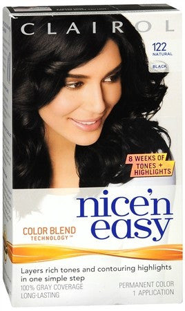 Clairol Nice 'n Easy Hair Color 122 Natural Black - 1 ea