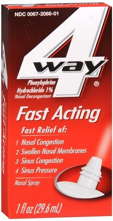 4-Way Fast Acting Nasal Spray - 1 oz
