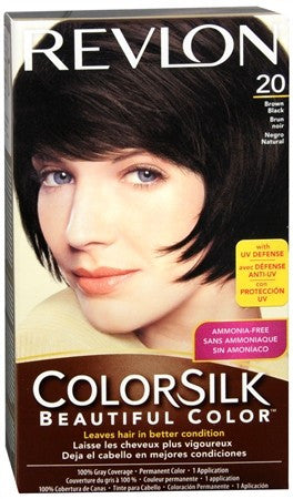 Revlon ColorSilk Hair Color 20 Brown Black - 1 ea