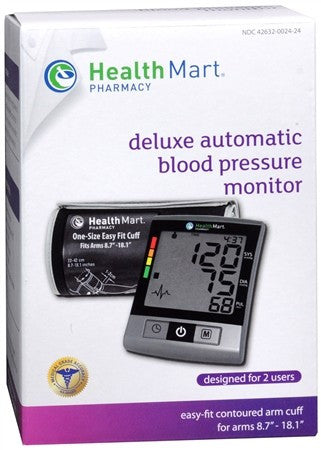 Health Mart Deluxe Automatic Blood Pressure Monitor - 1 ea