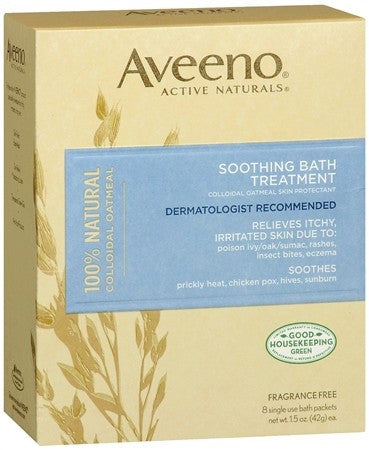 AVEENO Active Naturals Soothing Bath Treatment Packets - 8 ea