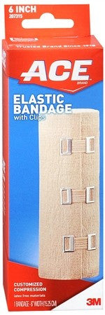 ACE Elastic Bandage with Clips 6 Inch - 1 ea
