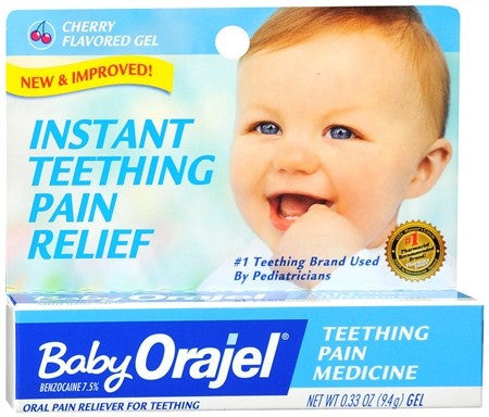 Orajel Instant Relief for Teething Pain Cherry Flavored Gel - 0.33 oz