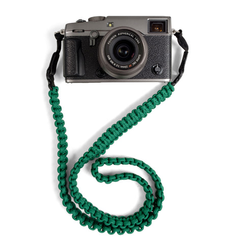 Braided Camera Strap - Kelly Green