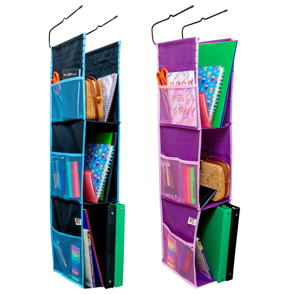 Eximius Power Hanging Locker Fabric Closed Back Organizer - 3 Shelves, Sturdy & Compact, Storage Space for School, Gym, Work or Closets