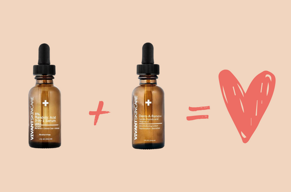 Vivant Skin Care's serums and a heart