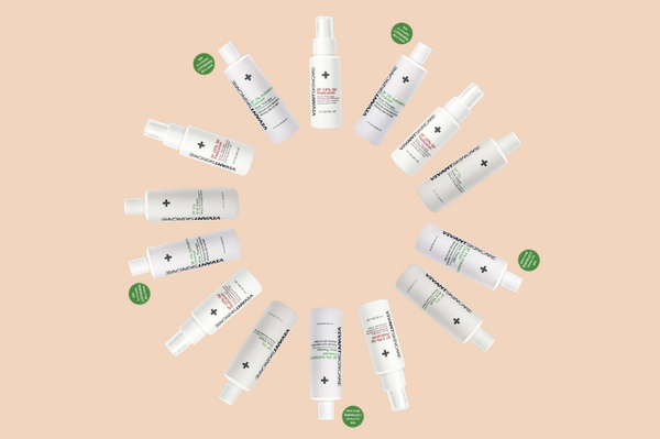 Vivant Skin Care's benzoyl peroxide products forming a circle