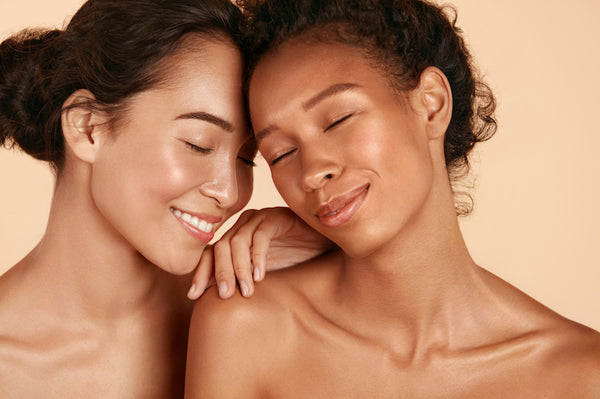 Smiling women with perfect skin portrait