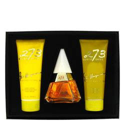 273 Gift Set By Fred Hayman - 2.5 oz Eau De Purfum Spray + 6.7 oz Body Lotion + 6.7 oz Shower Gel + Mirror - Fred Hayman