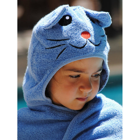 Cat HOOded Cotton Turkish Towel: Little Kid