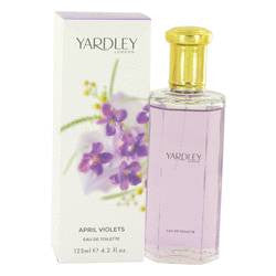 April Violets Eau De Toilette Spray By Yardley London - 4.2 oz Eau De Toilette Spray - Yardley London