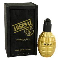 Arsenal Gold Eau De Parfum Spray By Gilles Cantuel - 3.4 oz Eau De Parfum Spray - Gilles Cantuel