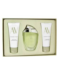 Av Gift Set By Adrienne Vittadini - 3 oz Eau De Parfum Spray + 3.3 Body Lotion + 3.3 oz Shower Gel - Adrienne Vittadini