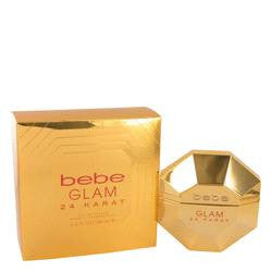 Bebe Glam 24 Karat Eau De Parfum Spray By Bebe - 3.4 oz Eau De Parfum Spray - Bebe