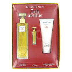 5th Avenue Gift Set By Elizabeth Arden - 4.2 oz Eau De Parfum Spray + .12 oz Mini + 3.3 oz Body Lotion - Elizabeth Arden