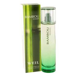 Bambou Eau De Parfum Spray By Weil - 3.4 oz Eau De Parfum Spray - Weil