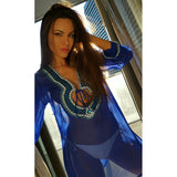 Beach Glam Electric Blue Silk Kaftan