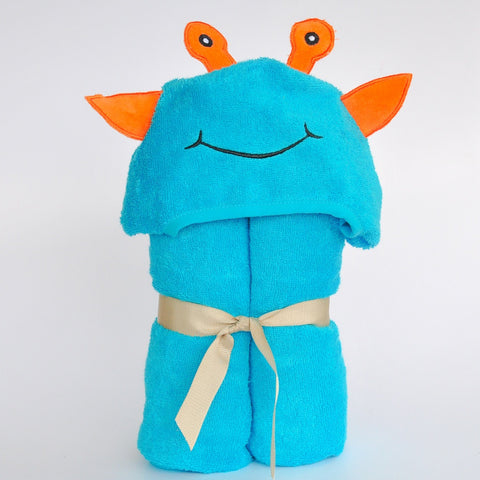 Bamboo rayon Alien Hooded Turkish Towel:Baby