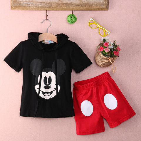 Baby Boy Cartoon clothing 2016 Summer Girls Kids Minnie Mouse Clothes Tops+Dress tutu Pants Outfit Suit -  - Houzz of Threadz - 1