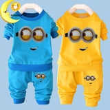 2016 New baby boy clothes sets cartoon casual kids minions suits infant girl children clothing set 2pcs T shirt+pants -  - Houzz of Threadz - 1