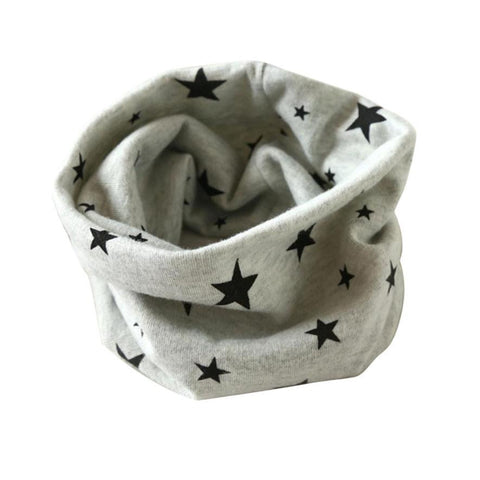 Newly Design Children Boys Girls Winter Warm Scarf Star Pattern Cotton O Neck Ring -  - Houzz of Threadz - 1