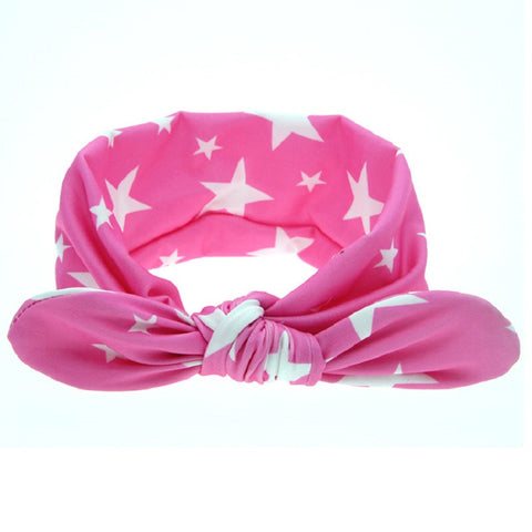 Newborn Girls Print Dot Rabbit Ears Hairband -  - Houzz of Threadz - 1
