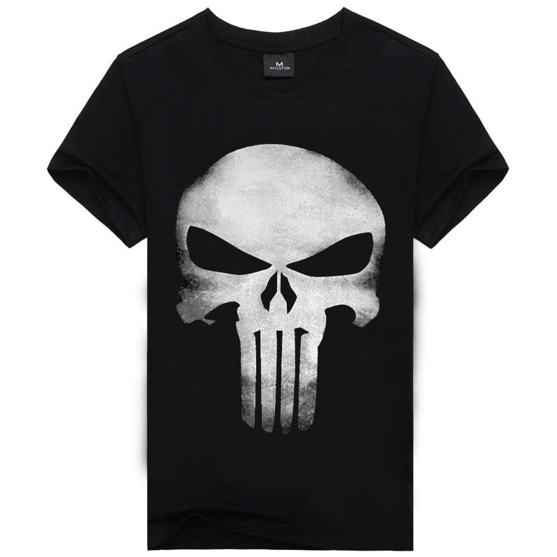 3D T Shirt Men Plus Size Cotton Tops Tee Skull Printed Short Sleeve Cotton T-shirt Men Hip Hop Sport Camisetas Brand Clothing -  - Houzz of Threadz