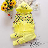 2016 Newest Spring Baby Girls Minnie Suits Korean Casual Kids Cotton Hooded Coat+Pants 2 Pcs Suits Infant/Newborn Clothes Suits - Yellow / 7-9 months - Houzz of Threadz - 2