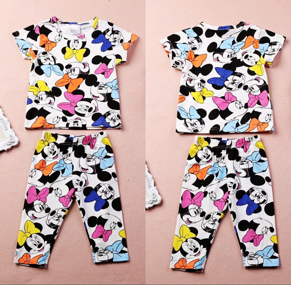 2016 Free shipping Summer Baby Girl Kids clothing Lovely Minnie Mouse clothes 2pcs T-shirt & Pants suits children's clothing set -  - Houzz of Threadz