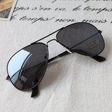 2016 New Women's Men's Classic Aviator Silver Mirrored Lens Brown Gold Black Sunglasses ---0592 - Black No2 - Houzz of Threadz - 2