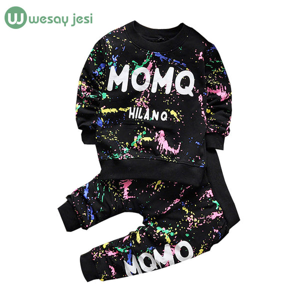 Baby Girl Clothes 2016 Spring Fashion printing graffiti Newborn baby boy clothes Set Infant Girl Long Sleeve Clothing 3-24M -  - Houzz of Threadz