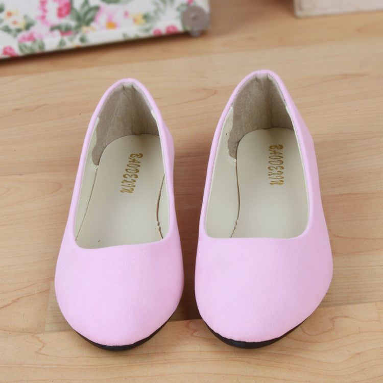 2016 Fashion women shoes solid candy color patent PU tip shoes women flats ballet shoes sapatilhas femininos princess shoes - Pink / 4 - Houzz of Threadz - 1