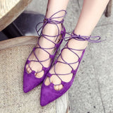 Ballerina Flats - Purple / 5 - Houzz of Threadz - 3