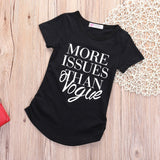 Baby Girls Fashion Cotton Short sleeve T-shirt - Black / 3T - Houzz of Threadz - 3