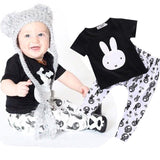 2016 kids boys summer style infant baby boy clothes set baby boy clothing sets cotton little monsters 2pcs baby girl clothes set - blank4 / 0-3 months - Houzz of Threadz - 2