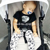 2016 kids boys summer style infant baby boy clothes set baby boy clothing sets cotton little monsters 2pcs baby girl clothes set - blank12 / 0-3 months - Houzz of Threadz - 4